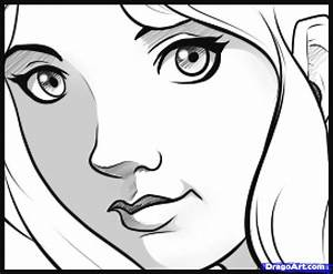 How to Draw an Easy Face, Step by Step, Faces, People ...