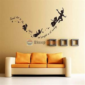 tinkerbell star peter pan wall decal kids room nursery With wall sticker decor