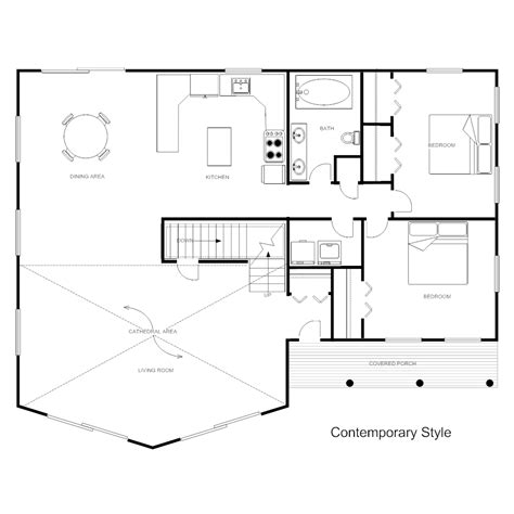 floor plan templates draw floor plans easily  templates