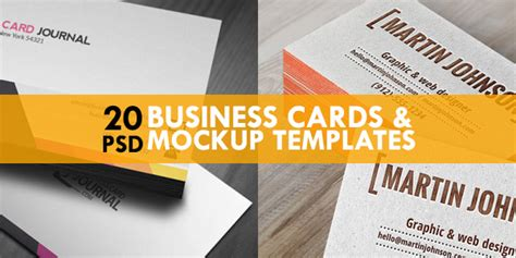 20 Free Business Cards & Mockup Psd Templates Business Card Qualifications Format Qr Code Android Reader App That Works With Outlook Fast Shipping For Laptop Nimble Mobile Credit Approval Odds
