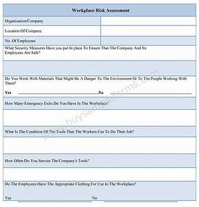 workplace risk assessment form With workplace hazard assessment template