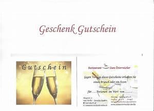 Text Gutschein Essen : gutschein der sterreicher in staaken ~ Markanthonyermac.com Haus und Dekorationen