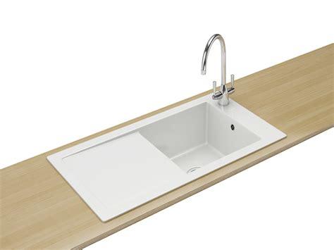 franke ceramic kitchen sinks franke aspen ank 611 ceramic white 1 0 bowl inset sink 3519