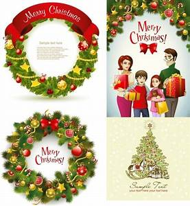 Beautiful christmas wreath vector Free vector in ...