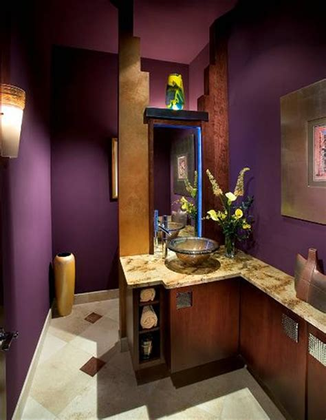 Purple Color Bathroom by What Do You Say To A Small Bathroom Color It Purple It