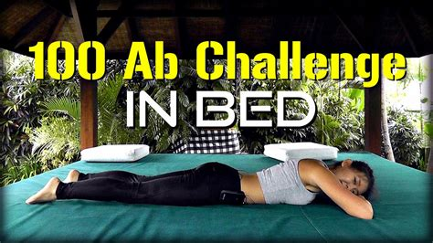4-week 100 Ab Challenge In Bed! (strong Core, Flat Tummy