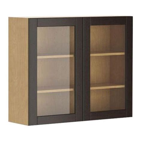 glass door kitchen cabinets home depot fabritec 36x30x12 5 in barcelona wall cabinet in maple 8310