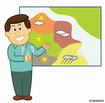 Weather Cartoon Weatherman Forecast Display Similar