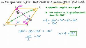 Video  Finding The Measure Of An Angle In A Parallelogram