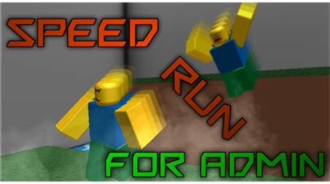 speed run  admin nbc roblox