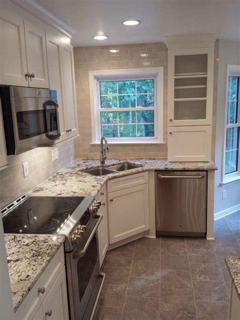 corner kitchen space empty sink savvy tips via elledecor