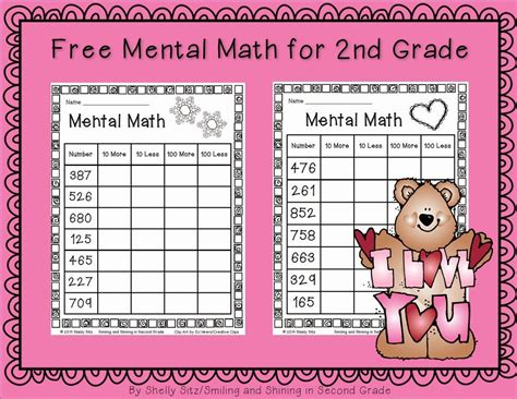 Smiling And Shining In Second Grade Mental Math For Second Grade