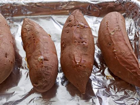 how to bake potatoes at 350 how to bake sweet potatoes food network thanksgiving how tos step by step turkey desserts