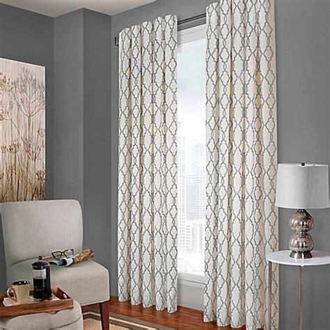 designers select claudia geo  tab window curtain panel  whitecharcoal bed bath