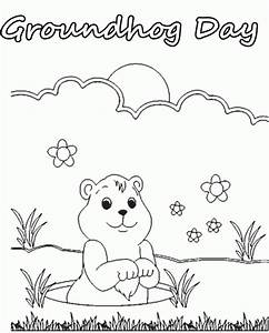 Printable Coloring Pages Of Groundhogs Coloring Home