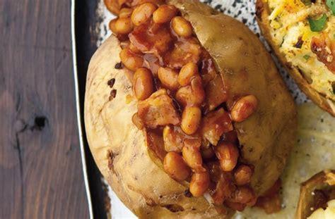 bacon  spicy bean baked potato recipe goodtoknow