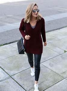 Chunky Sweater + Leather Leggings | MEMORANDUM | NYC ...