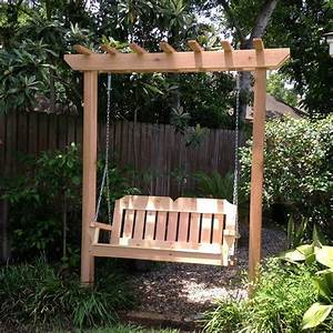 Tmp Outdoor Furniture Victorian Red Cedar Arbor Garden Swing Set Pergola Swing Plans Images