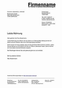 Rechnung Anwalt : mahnung muster kostenlose muster f r mahnungen ~ Themetempest.com Abrechnung