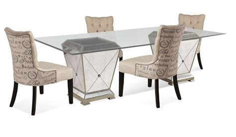 mirrored dining table set borghese dining set with script chairs antique mirror