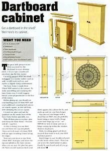 #103 Dartboard Cabinet Plans - Other Woodworking Plans and
