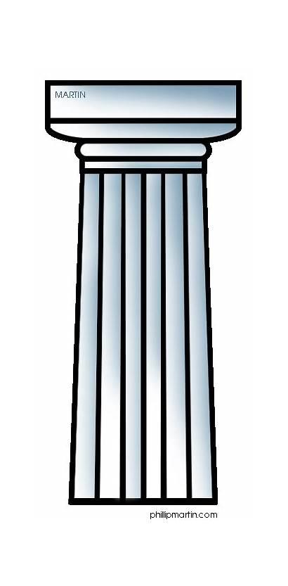 Greek Ancient Greece Columns Column Doric Clip