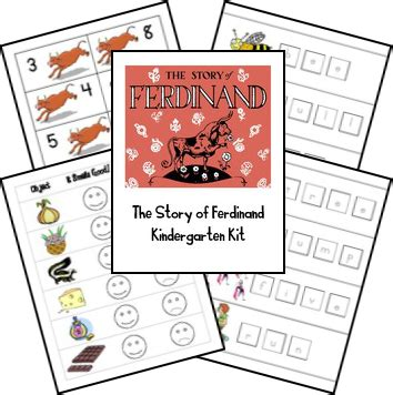 the story of ferdinand lapbook printables matches the 968 | 08d78b6163b748c2be3797afc25f6f9b