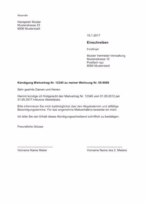 Vermieter Mietvertrag Kündigen by 5 Kundigung Mietvertrag Vorlage Kostenlos