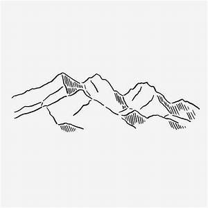 Mountain Drawing Outline | www.imgkid.com - The Image Kid ...