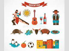 La Argentina Sistema De Iconos Ilustración del Vector