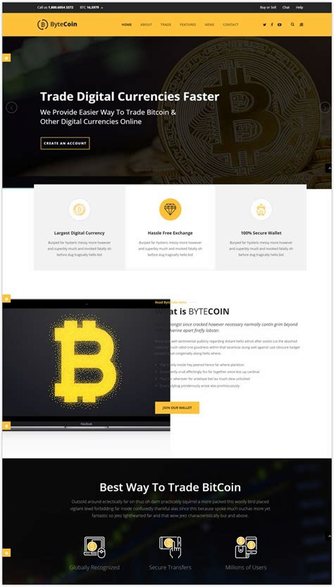 Bcoin,bitcoin website template that you can use it as bitcoin exchange website template. 16+ Best Cryptocurrency & Bitcoin Website Templates 2018 - Templatefor