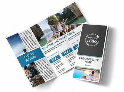 Brochure Tourism Fold Tri Activities Template Travel