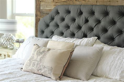 How To Make Your Own Tufted Headboard by How To Make An Upholstered Headboard Inspired