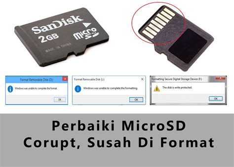 Then i tried to format it when it's detected. 100% work Mengatasi Masalah Micro SD Card Disk Write Protected, Windows unable to formatting ...