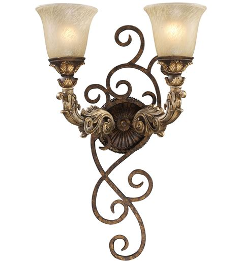 elk lighting regency burnt bronze 2 light wall sconce