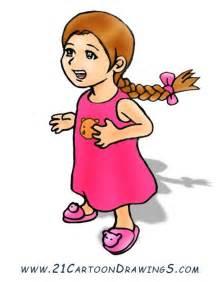 Little Cartoon Girls Clip Art