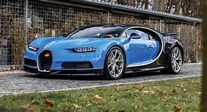 Early Two-Tone Blue Bugatti Chiron Heading To Paris ...  Bugatti