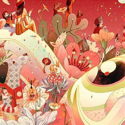 Ngai Victo Illustrations Dimensional Colorful Via Instagram