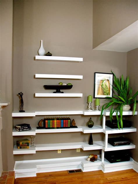 Floating Shelves Bookcase by Decorating With Floating Shelves Hgtv
