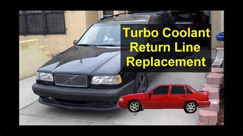 turbo coolant return hose replacement volvo