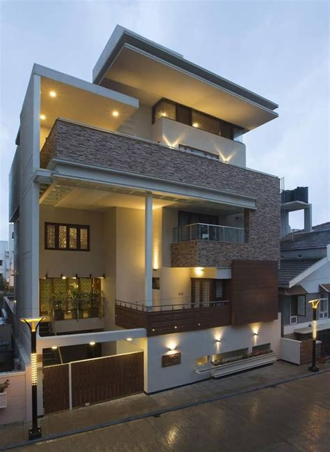 elegant modern residential house  india house designs exterior indian home design