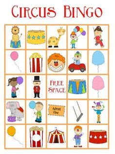 circus bingo freebie homeschooling circus activities 961 | 34efa23b9ded7948396886ac22b8de88 circus lesson plans preschool circus theme crafts