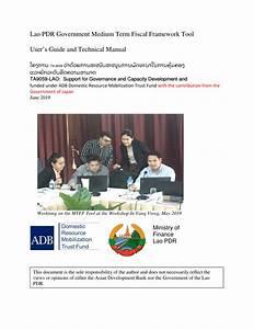 Pdf  Lao Pdr Government Medium Term Fiscal Framework Tool