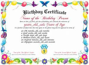 birthday download and print a unique birthday With design your own certificate templates free