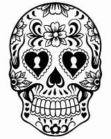 Dead Coloring Skull Pages Printable sketch template