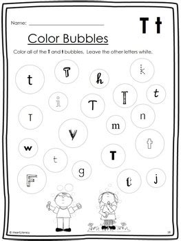 letter of the week t no prep by iheartliteracy tpt