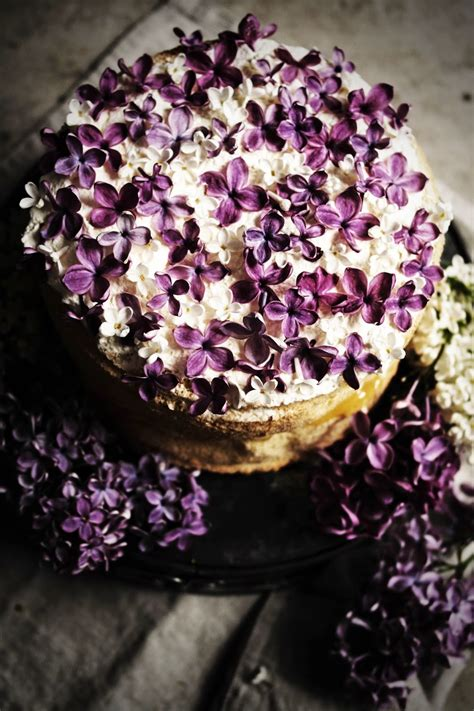 feather light cake  lilac infused creme patissiere