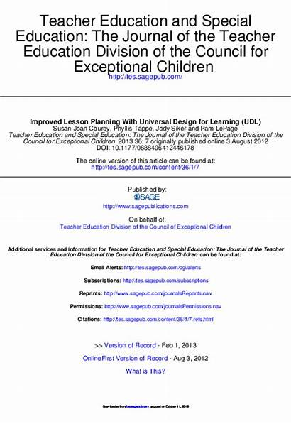 Lesson Universal Planning Learning Udl Improved Academia