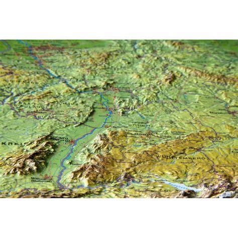 georelief deutschland klein  reliefkarte
