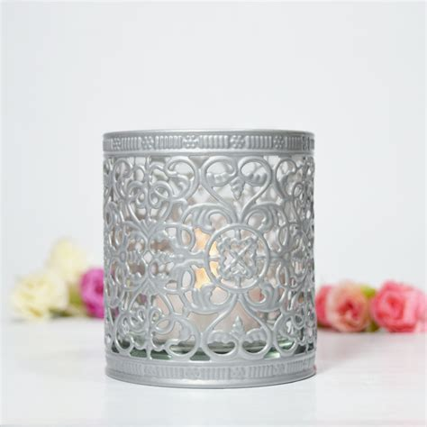 decorative candle holders decorative tealight candle cup holder silver on now